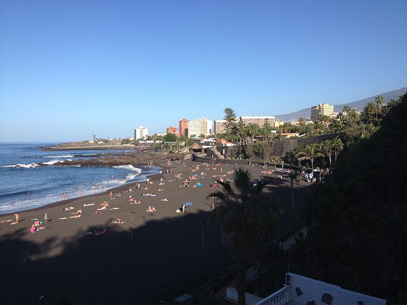 Playa Jardin, czarna plaża Teneryfa