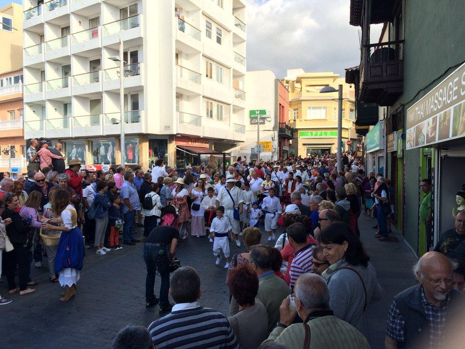 Teneryfa Dzień wysp Kanaryjskich w Puerto De la Cruz Centrum Miasta