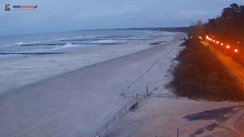 Ustka Kamera plaża i promenada