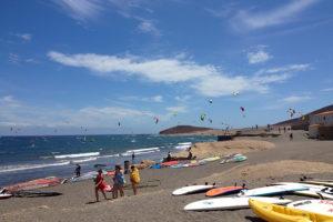 El Medano, plaża surferów, Teneryfa południowa