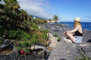 Playa Jardin - czarna plaża teneryfa, Puerto de la Cruz, Teneryfa