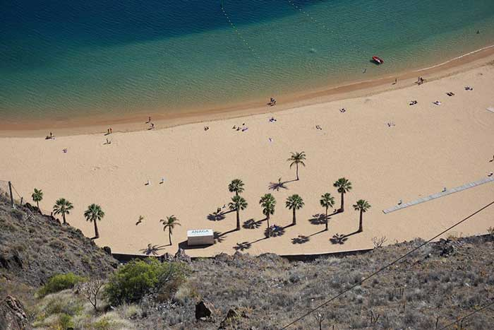 Playa plaża las teresitas teneryfa