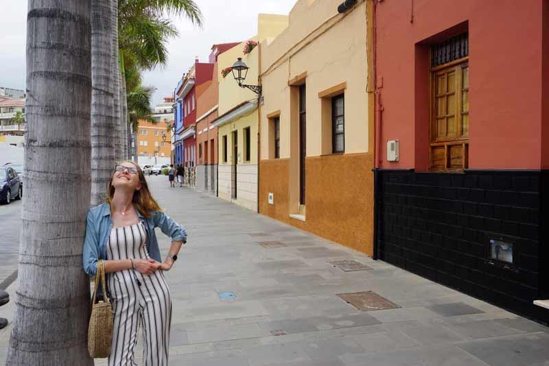 Puerto de la Cruz - hiszpańska lokalna uliczka