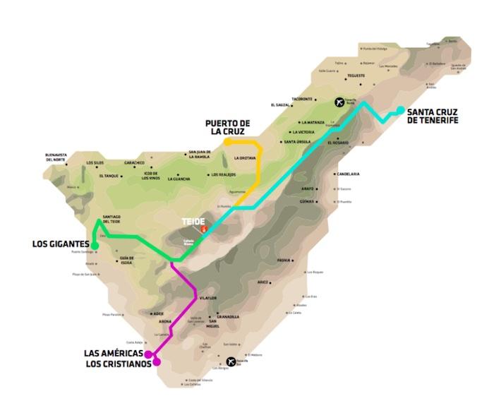 Teneryfa Mapa Dojazd Wulkan el Teide