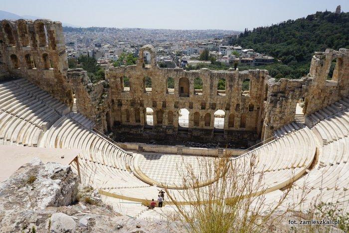 Akropol Ateny zwiedzanie: Odeon Heroda Attyka