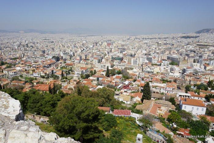 Ateny Grecja: widok z Akropolu