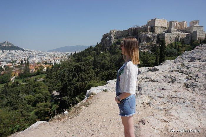 Akropol Ateny: widok na Akropol z Areopagu