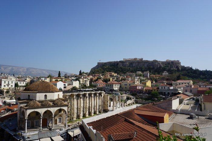 Akropol Ateny: widok na Akropol