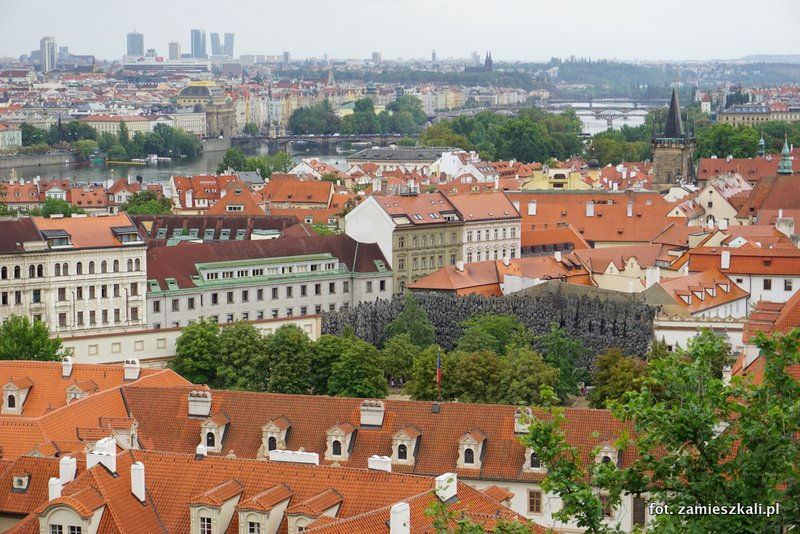 Czeska Praga, Hradczany, widok na Pragę