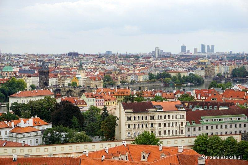 Czeska Praga, Hradczany, widok na Pragę i Most Karola
