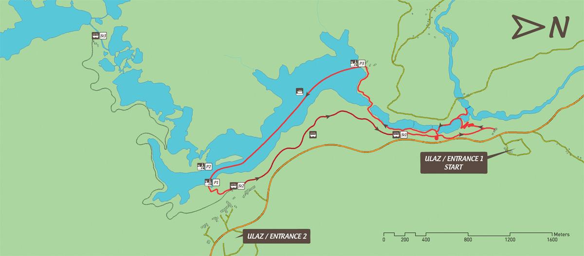 Jeziora Plitwickie trasa zwiedzania B
