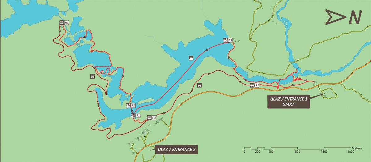Jeziora Plitwickie trasa zwiedzania C