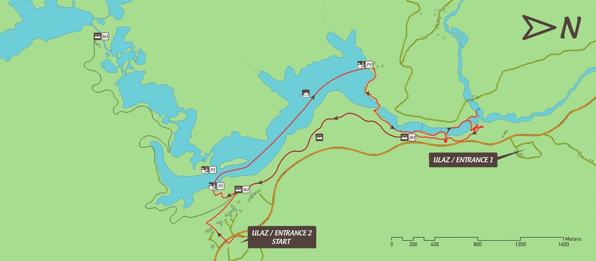 Jeziora Plitwickie trasa zwiedzania F