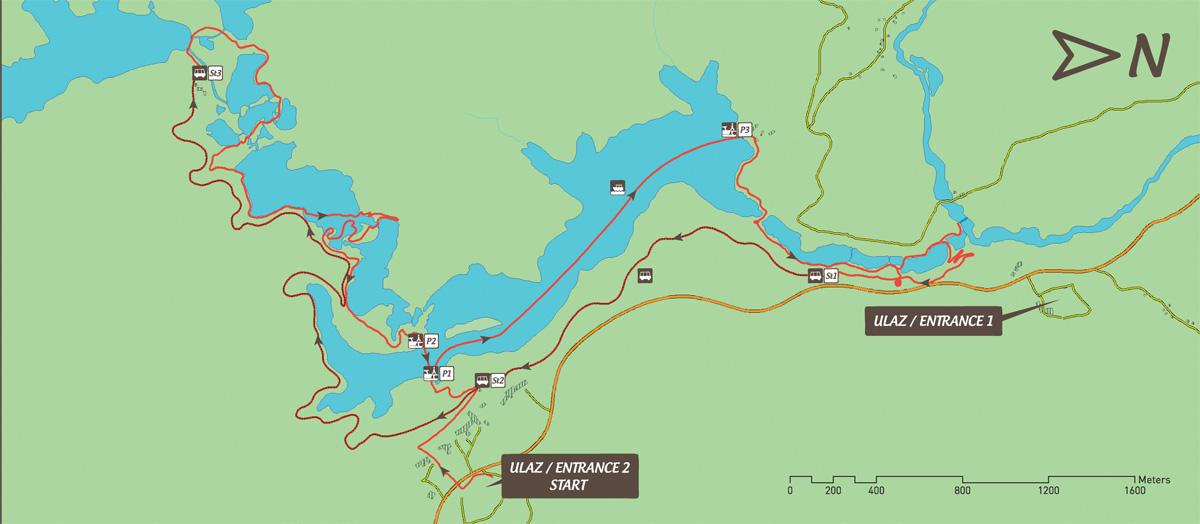 Jeziora Plitwickie trasa zwiedzania H