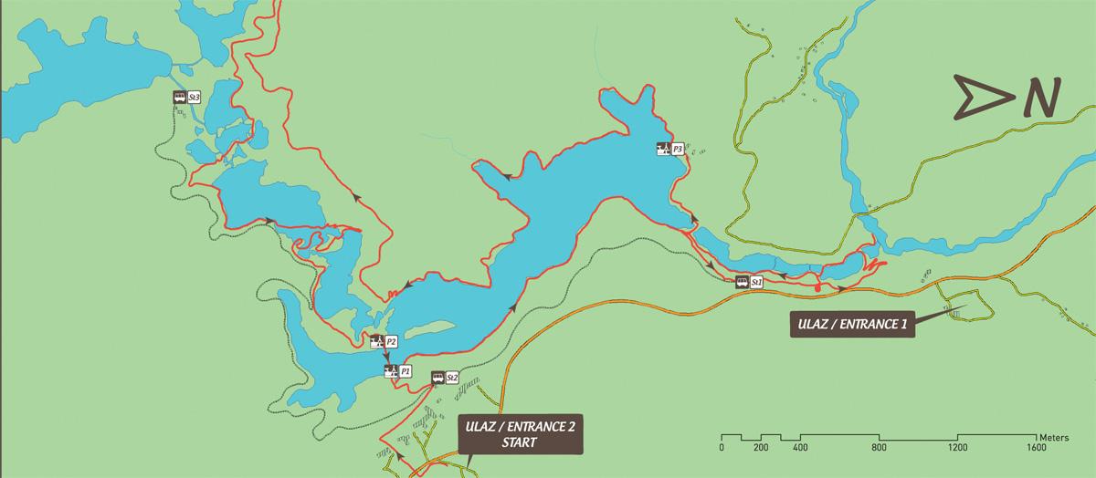 Jeziora Plitwickie trasa zwiedzania K/2