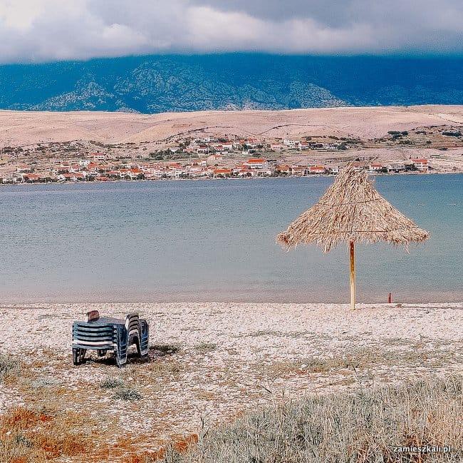 Wyspa Pag Chorwacja Plaża Zrce