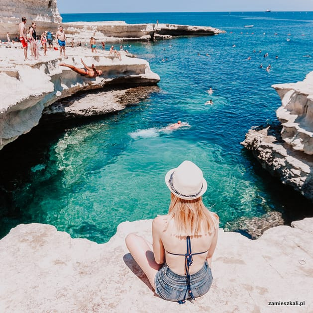 Malta atrakcje. Naturalne baseny st. Peters Pool.