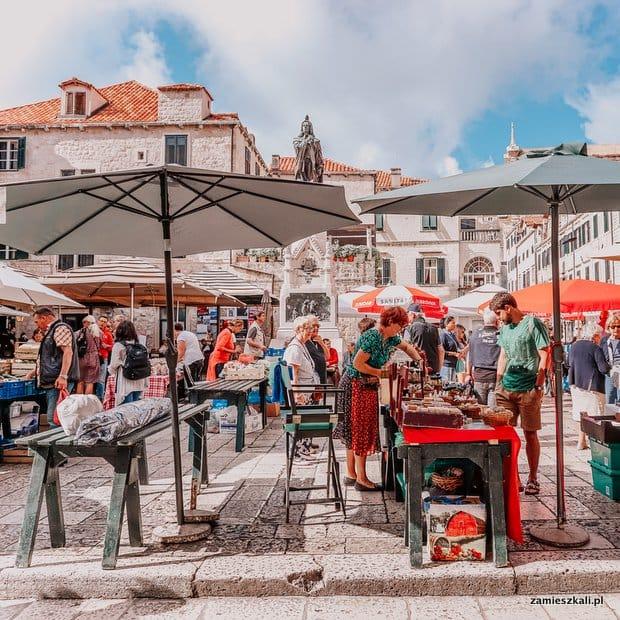 Dubrownik targ w centrum Starego Miasta