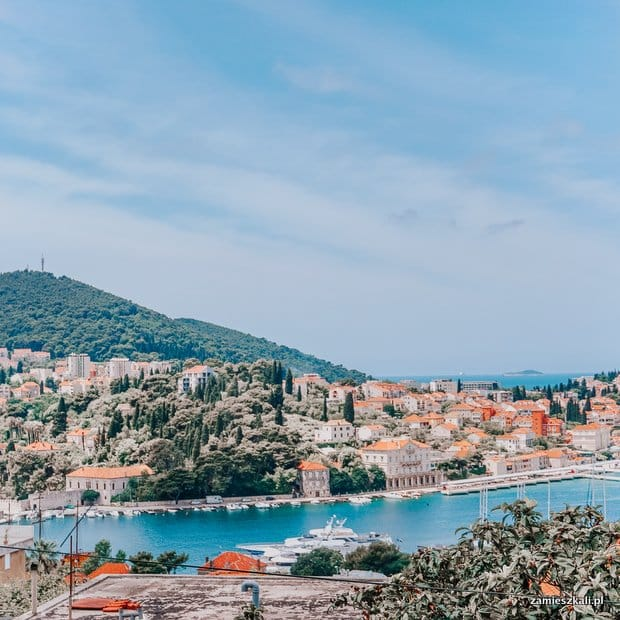 Dubrownik Chorwacja port Gruz (widok z wynajętego apartamentu)