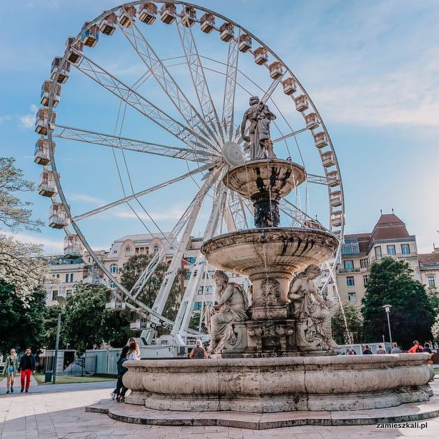 Budapeszt atrakcje. Plac Elżbiety Budapeszt Eye.